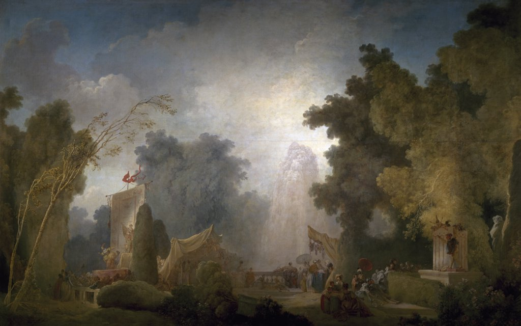 Stock Photo: 1158-1900 France, Paris, Bank Of France, The Festival at Saint Cloud by Jean-Honoré Fragonard, (1732-1806)