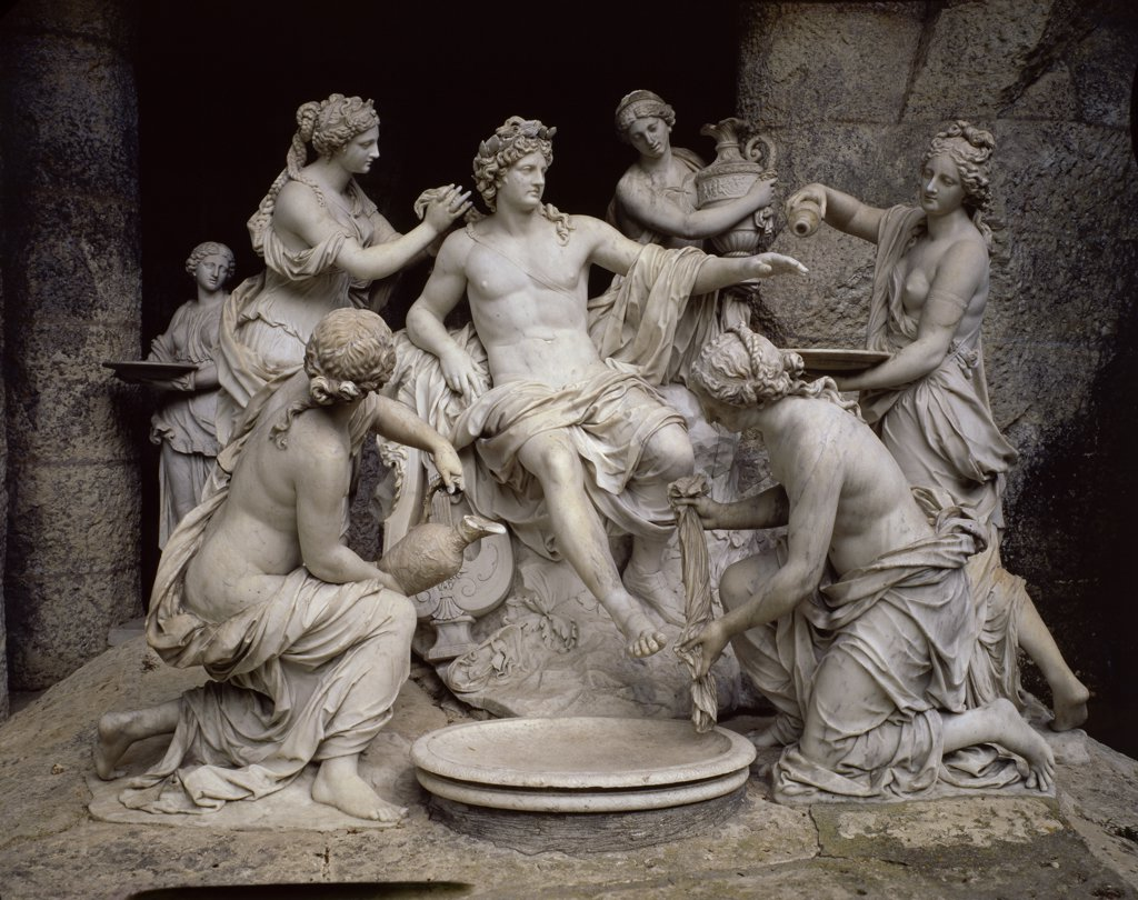 Stock Photo: 1158-1905 Apollo Served by the Nymphs 