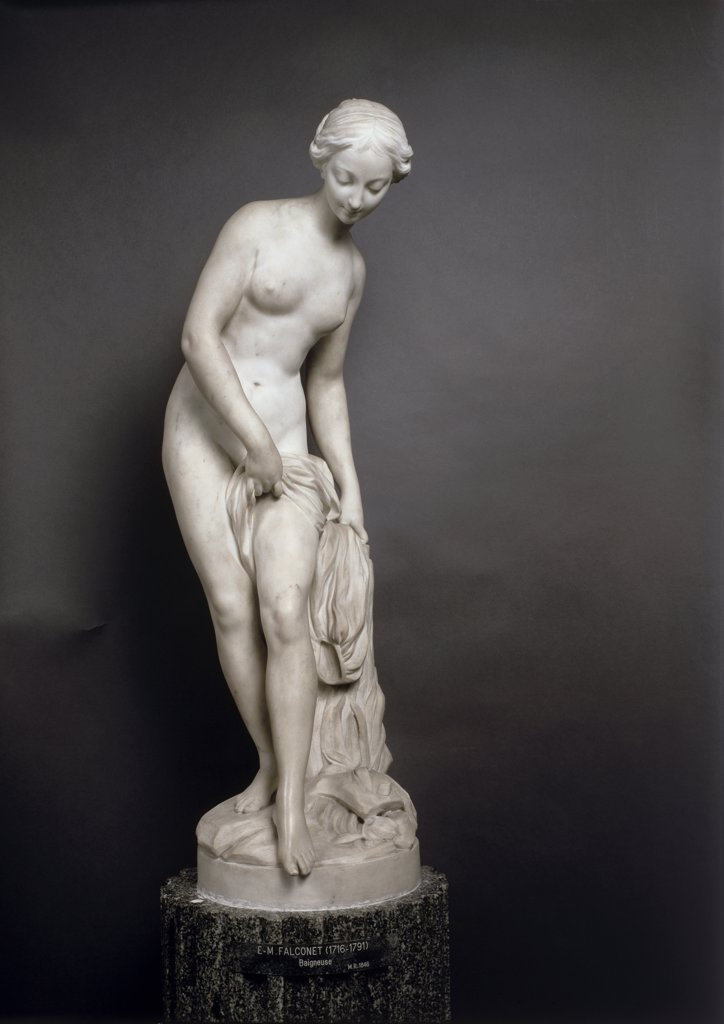 Bather  Etienne Maurice Falconet (1716-1791/French)  Musee du Louvre, Paris   : Stock Photo