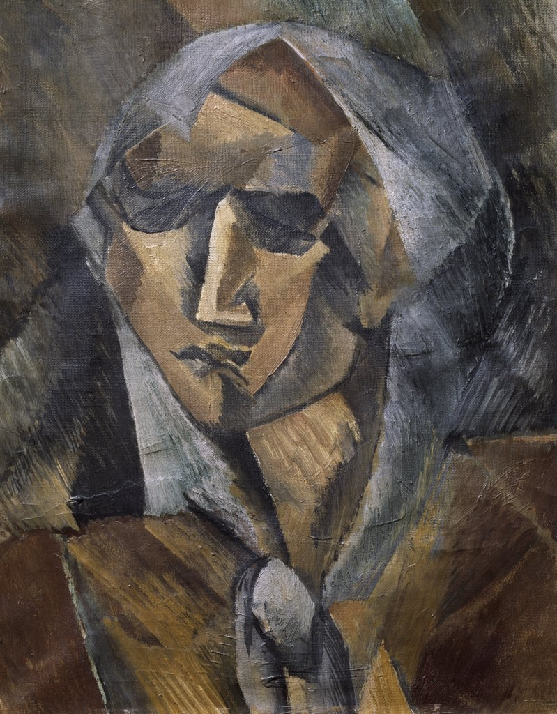 Head of a Woman by Georges Braque, Circa 1906-1907, (1882-1963), France, Paris, Muse National d'Art de Moderne : Stock Photo