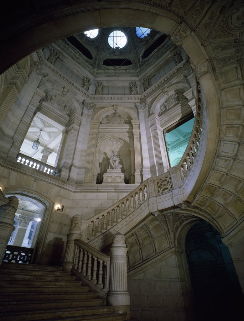 France, Paris, Tribunal of Commerce, Stairway of Honor : Stock Photo