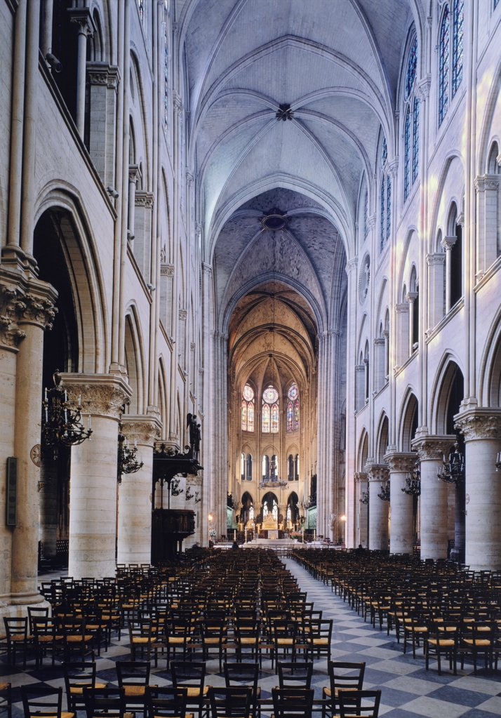 Stock Photo: 1158-1958 Notre Dame Interior