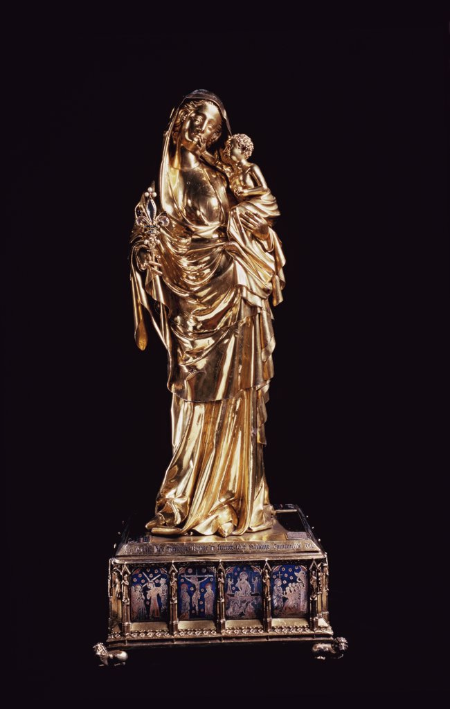 Stock Photo: 1158-1959 Statue of the So-Called Virgin Joan of Evreux