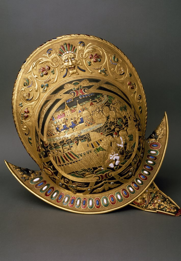 Stock Photo: 1158-1971 Helmet of Charles IX of France, 16th Century