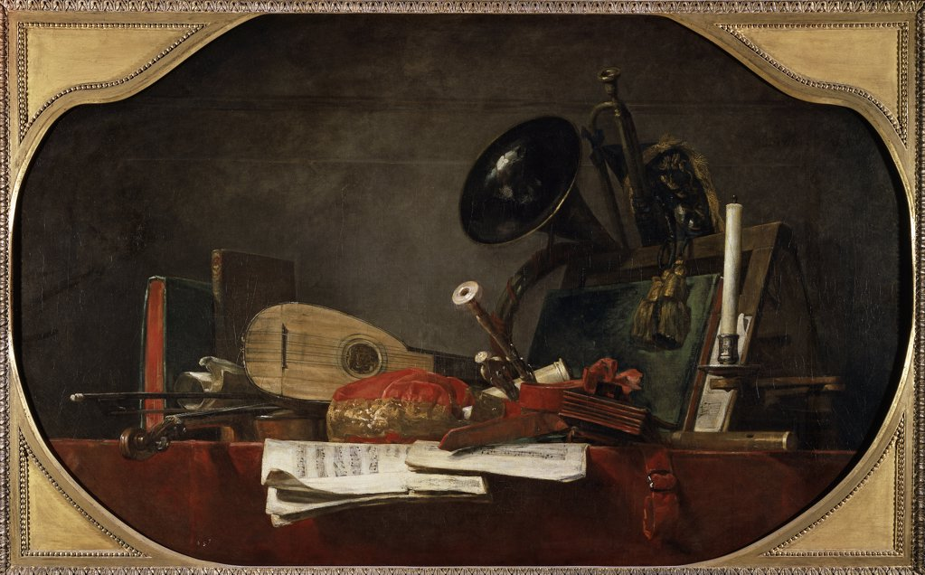 Stock Photo: 1158-1986 The Attributes of Music
