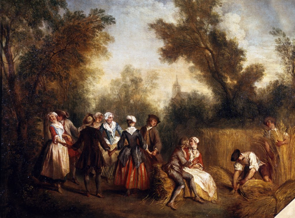 Summer or the Dance by Nicolas Lancret, (1690-1743), France, Paris, Musee du Louvre : Stock Photo