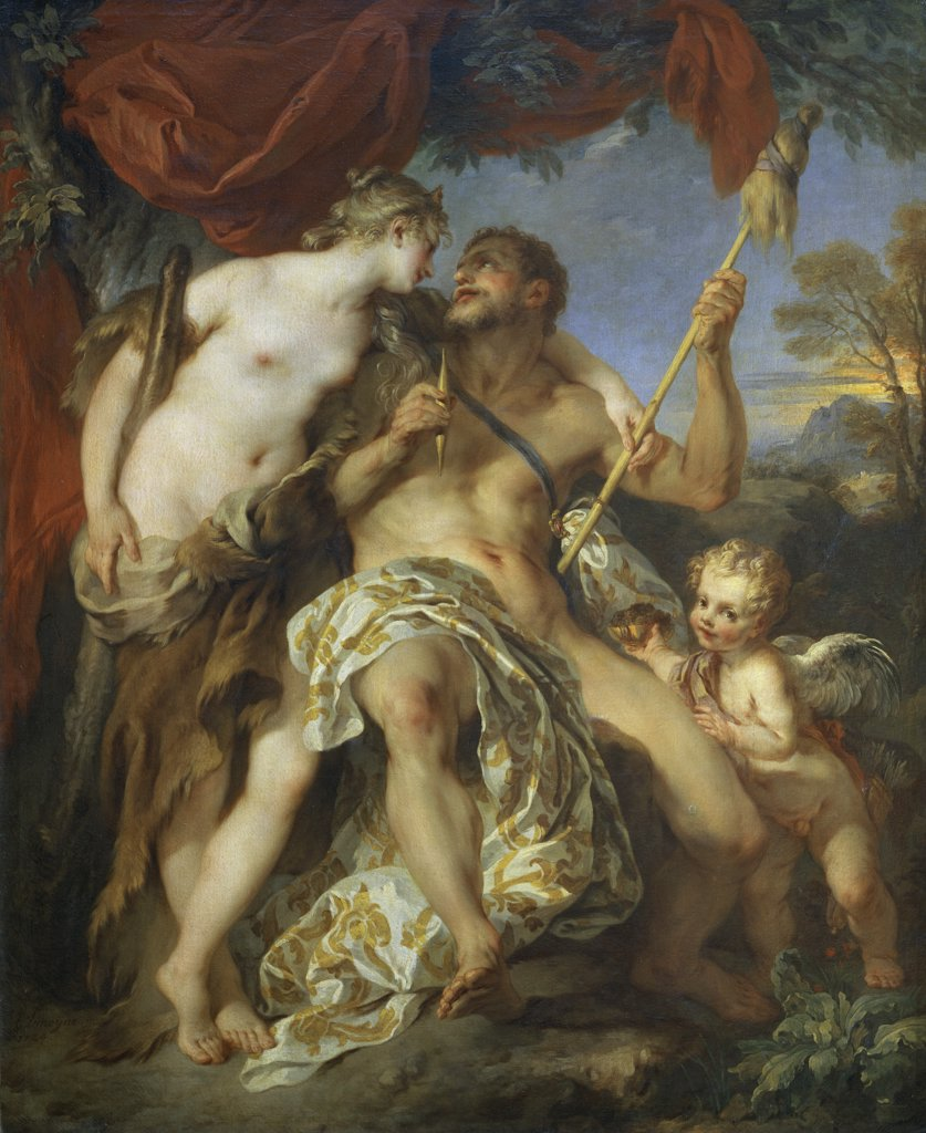 Stock Photo: 1158-2013 Hercules and Omphale 
