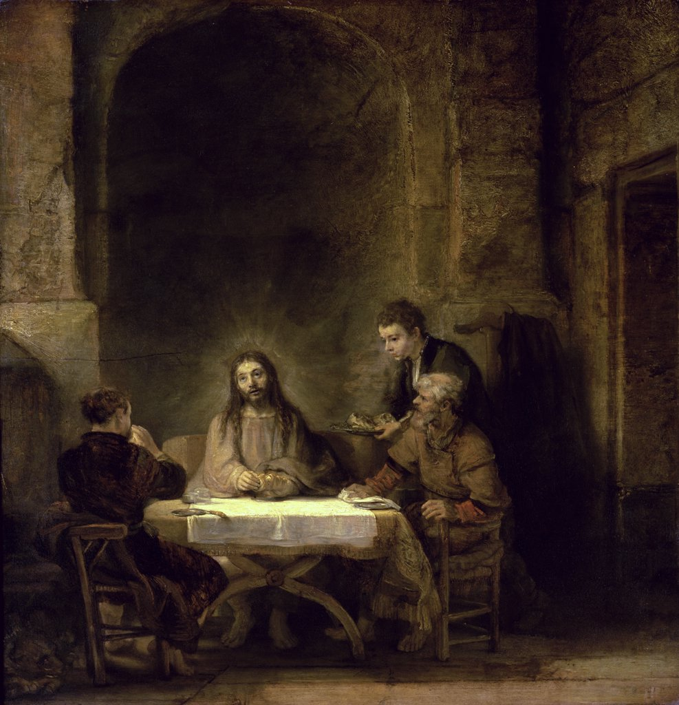 Stock Photo: 1158-2060 Supper at Emmaus 