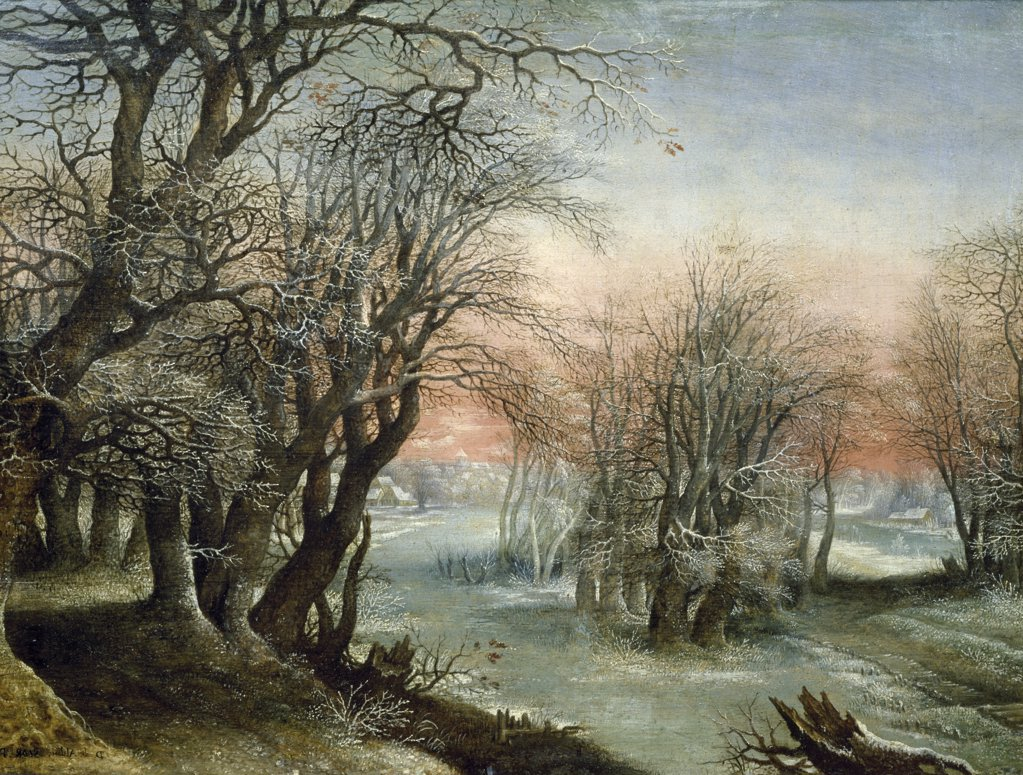 Stock Photo: 1158-2074 Winter Landscape by Denis van Alsloot, 1610, (1570-1620), France, Paris, Musee du Louvre