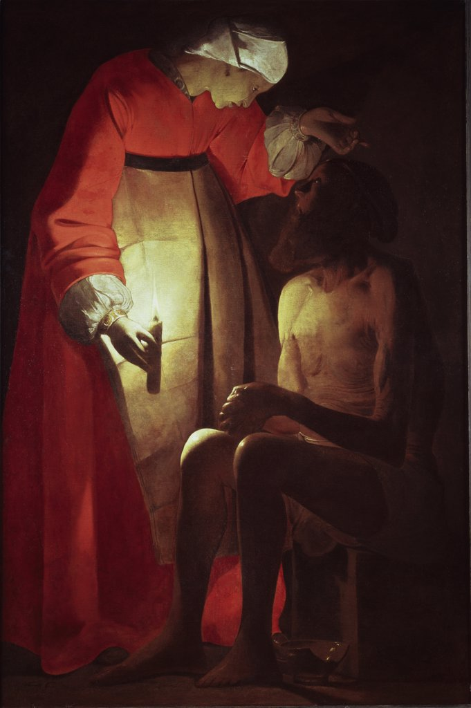 Stock Photo: 1158-2081 Job Visited by His Wife