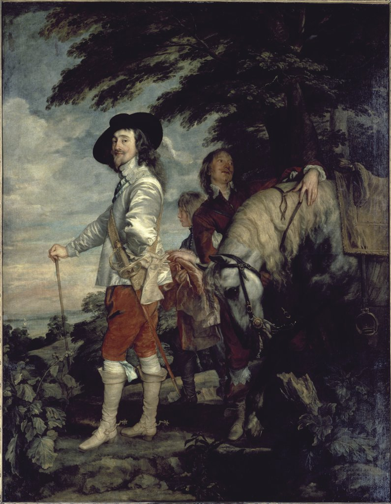 Stock Photo: 1158-2085 Charles I, King of England, at the Hunt 