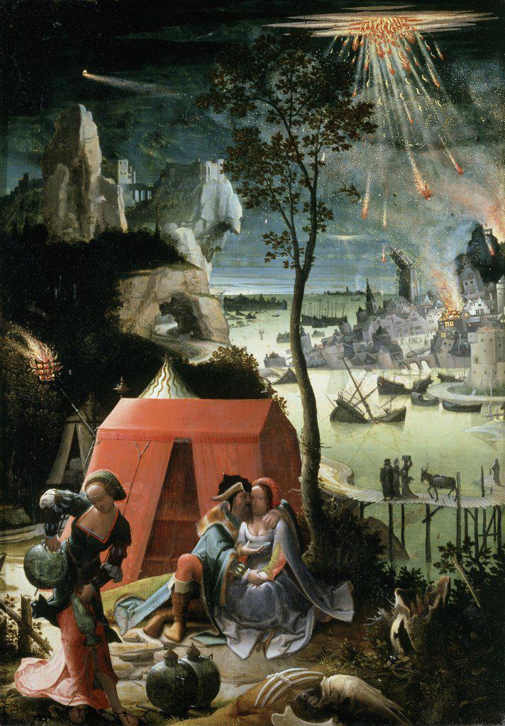 Stock Photo: 1158-2088 Lot and His Daughters  17th C.  Lucas van Leyden (1494-1533/Dutch)  Musee du Louvre, Paris