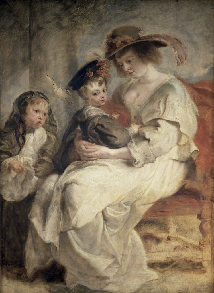 Stock Photo: 1158-2100 Helena Fourment and Her Children, Claire-Jeanne and Francois