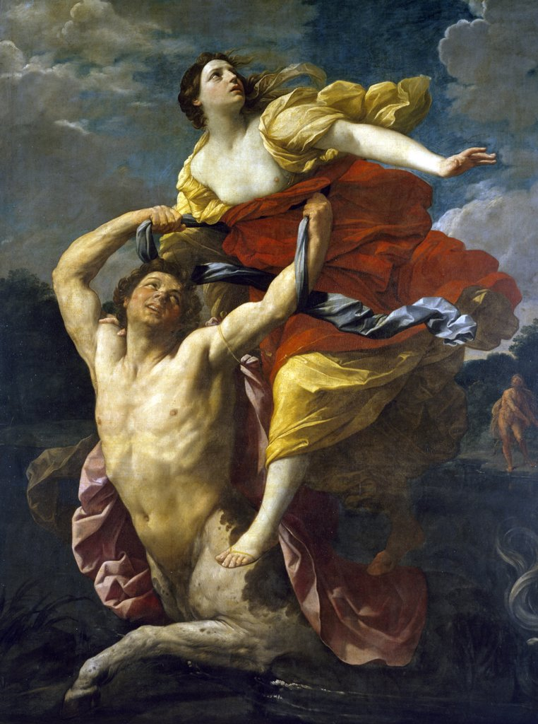 Stock Photo: 1158-2108 Deianeira Abducted by the Centaur Nessus by Guido Reni, Circa 1620-1621, (1575-1642), France, Paris, Musee du Louvre