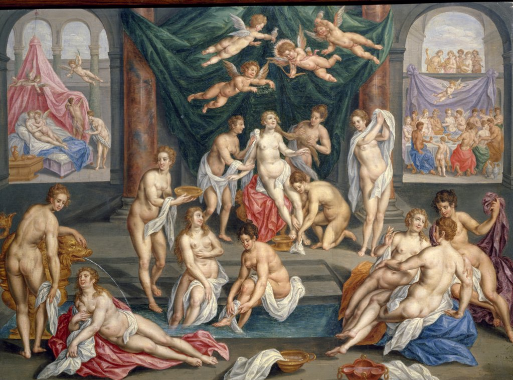 History of Psyche by Hendrik de Clerck, Circa 1600, (1570-1629), France, Paris, Musee du Louvre : Stock Photo