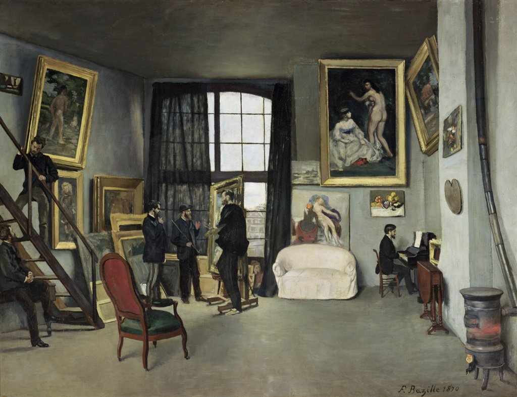Stock Photo: 1158-2185 The Artists Studio-Rue de la Condamine 