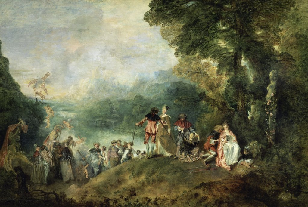 Stock Photo: 1158-2186 The Embarkation for Cythera 