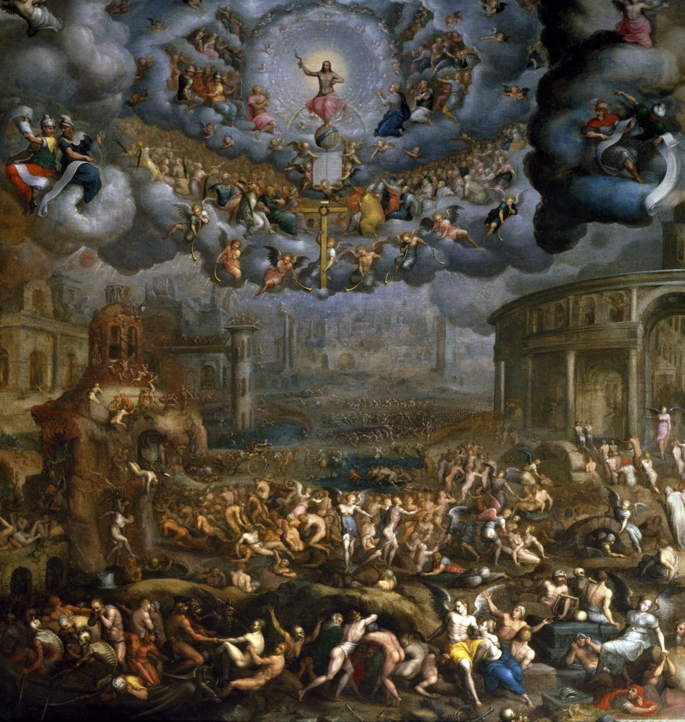 Stock Photo: 1158-2251 The Last Judgment by Jean Cousin, the younger, (1522-1594), France, Paris, Musee du Louvre