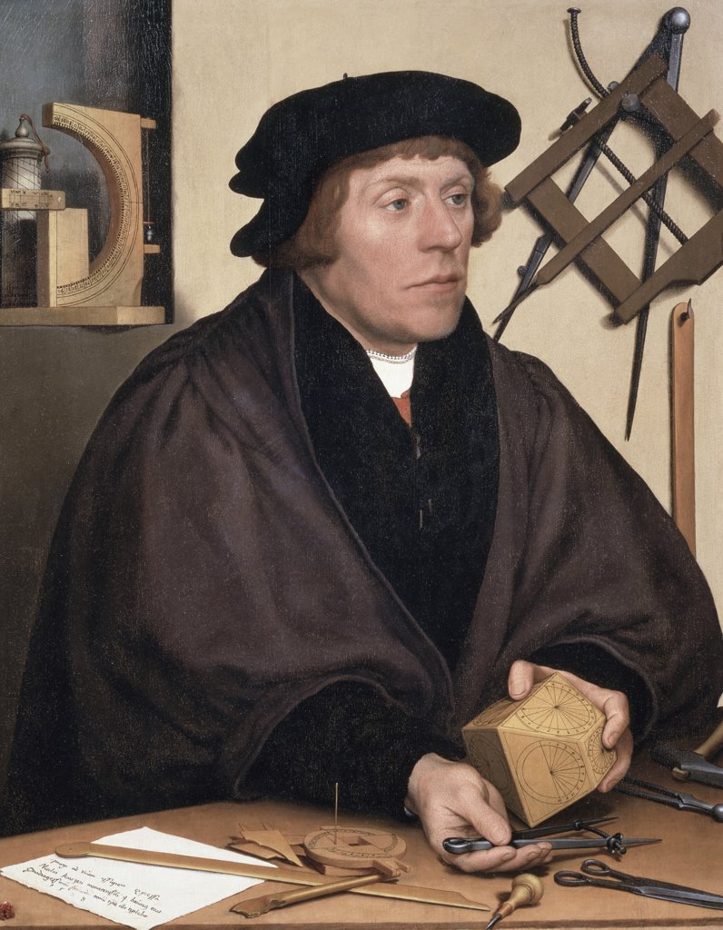 Nicholas Kratzer (Inventor Of Polyhedral Sundial) 1528 Hans Holbein the Younger (1497-1543 German) Musee du Louvre, Paris, France : Stock Photo