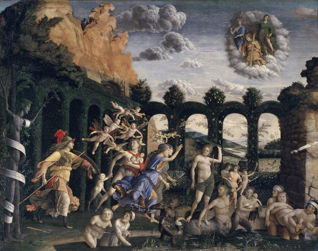 Stock Photo: 1158-2278 Minerva Chases the Vices from the Garden of Virtue 