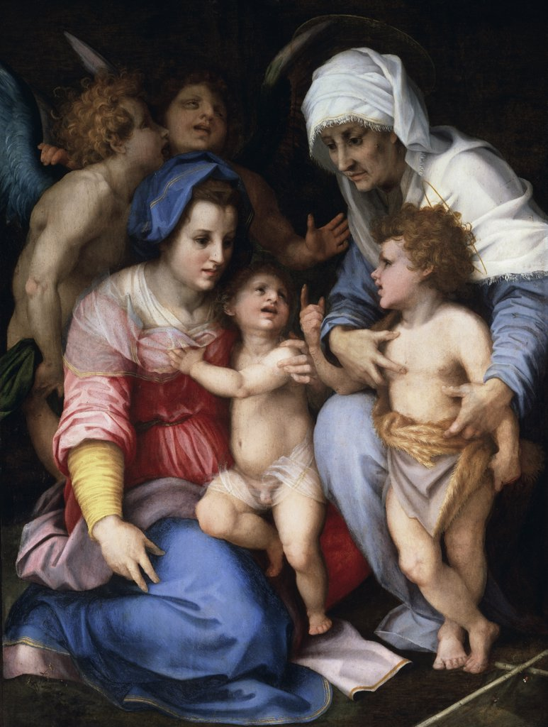 Stock Photo: 1158-2299 The Holy Family With Angels