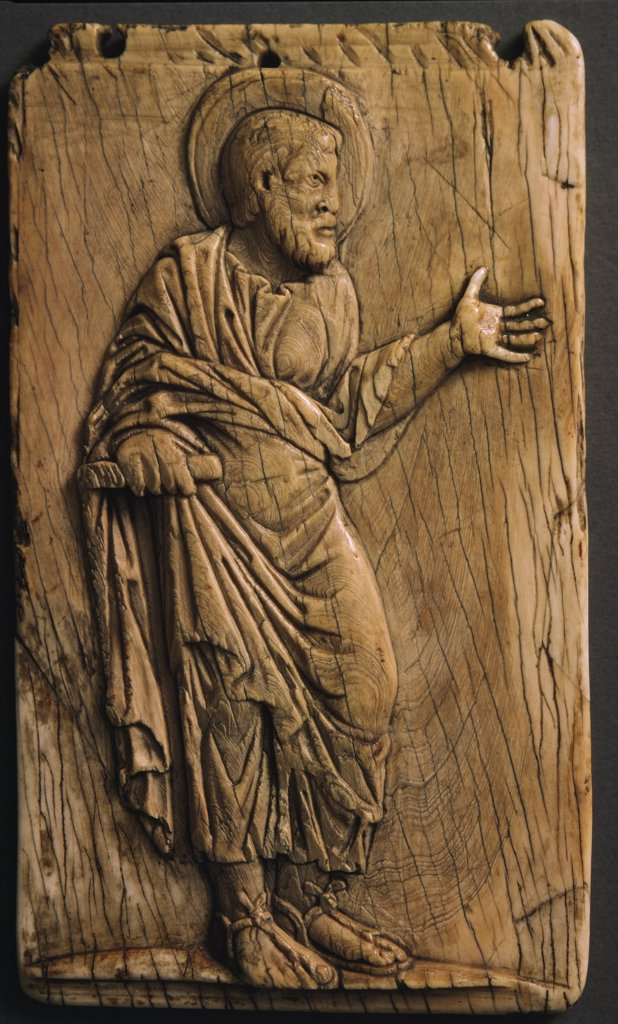 Stock Photo: 1158-2309 Apostle, ivory relief