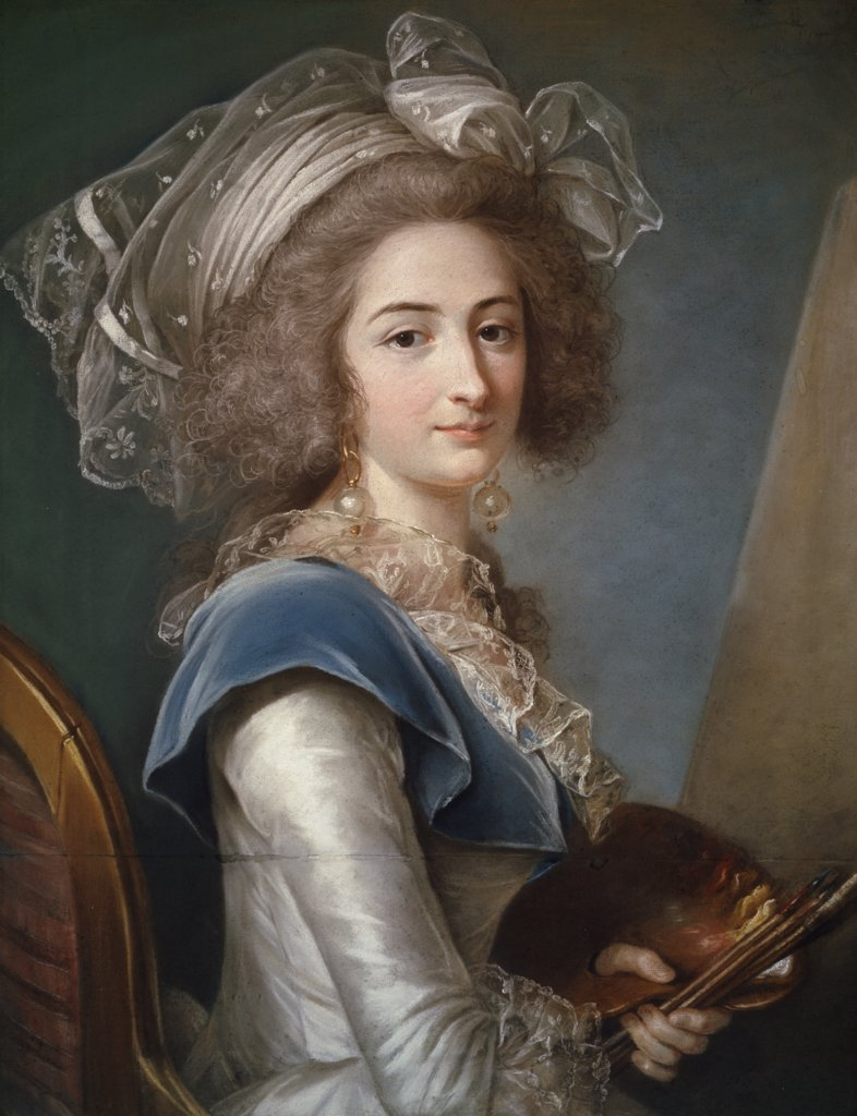 Self Portrait,  by Adelaide Labille-Guiard,  Private Collection,  1749-1803 : Stock Photo