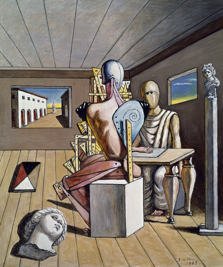 Stock Photo: 1158-2400 Metaphysical Vision of New York by Giorgio de Chirico, 1975, 1888-1978