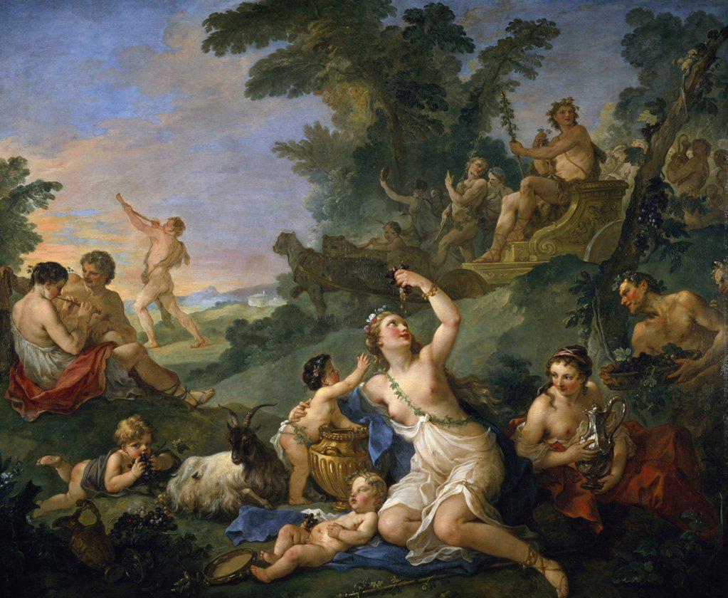 Stock Photo: 1158-2415 Triumph of Bacchus by Charles Joseph Natoire, (1700-1777), France, Paris, Musee du Louvre