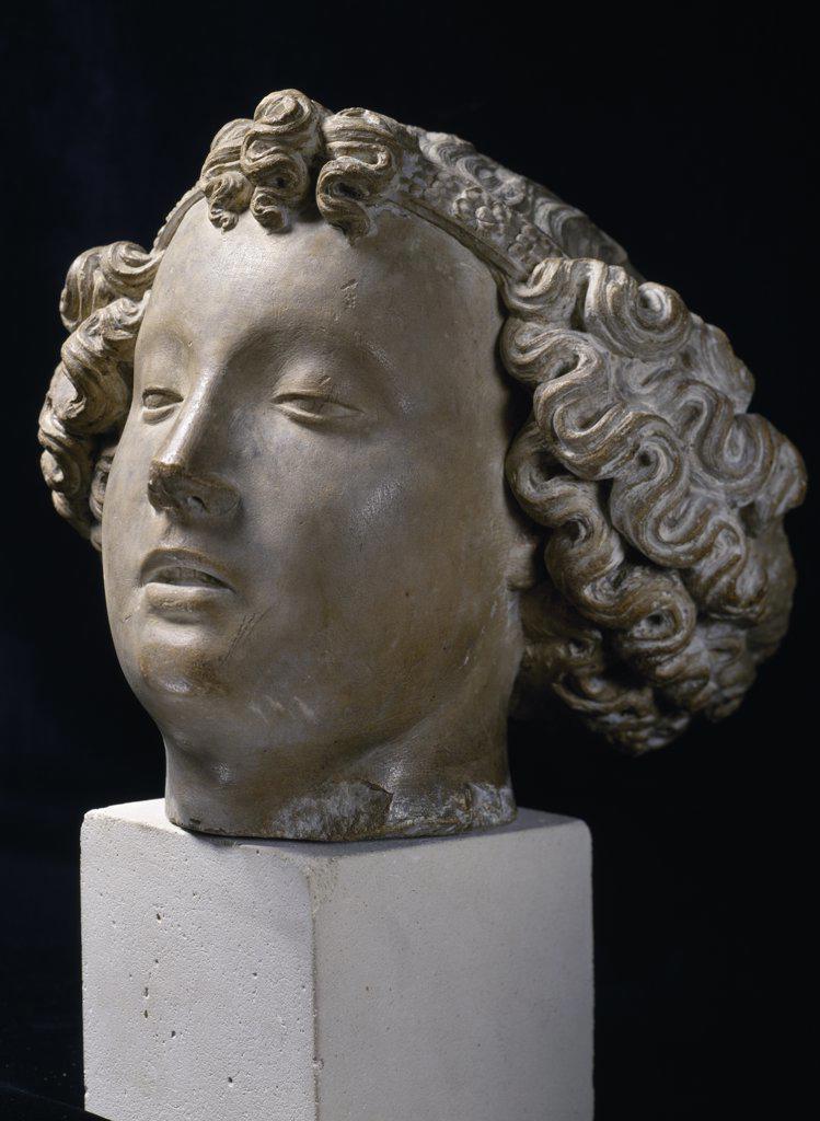 Head of an Angel, sculpture, France, Paris, Musee de la Ville de Paris : Stock Photo