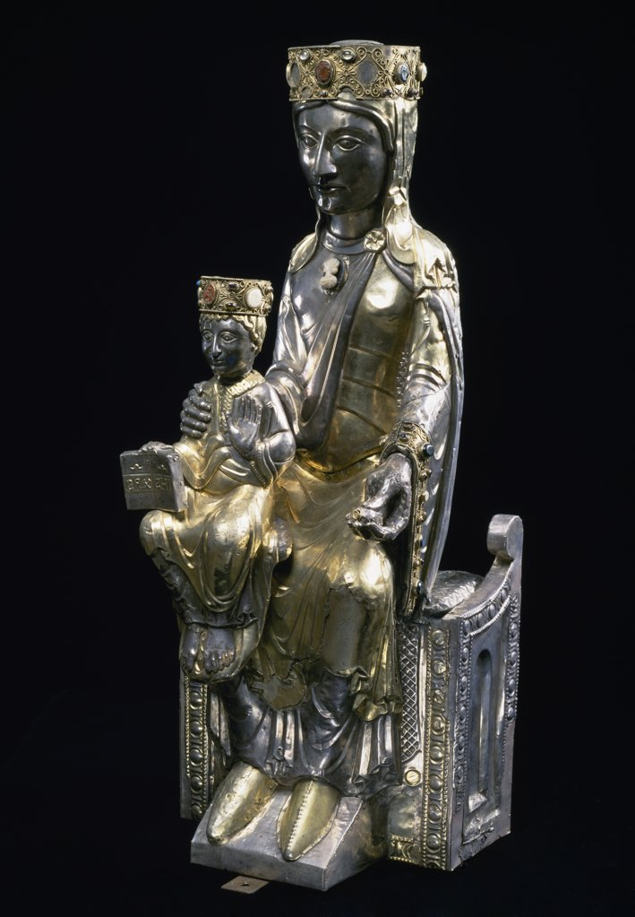 Stock Photo: 1158-2430 Virgin and Child Enthroned, sculpture