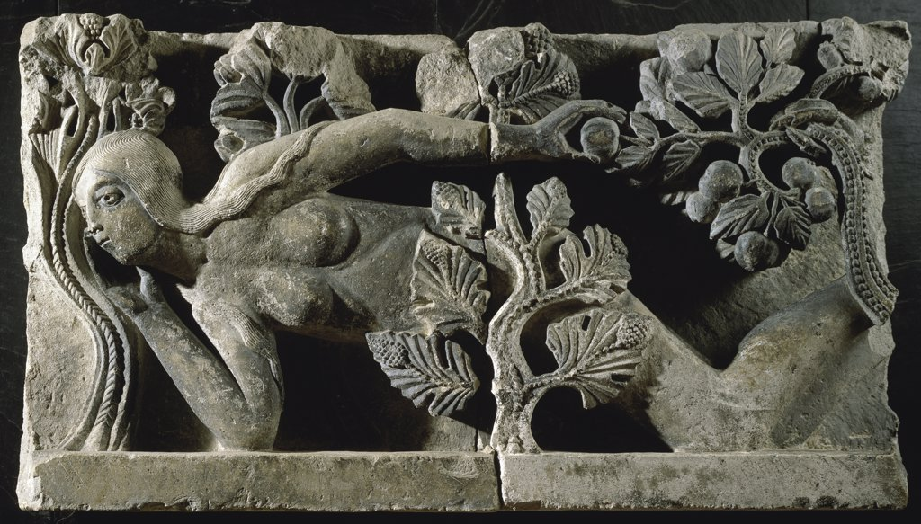 Stock Photo: 1158-2433 Fragment of Lintel: Eve Relief