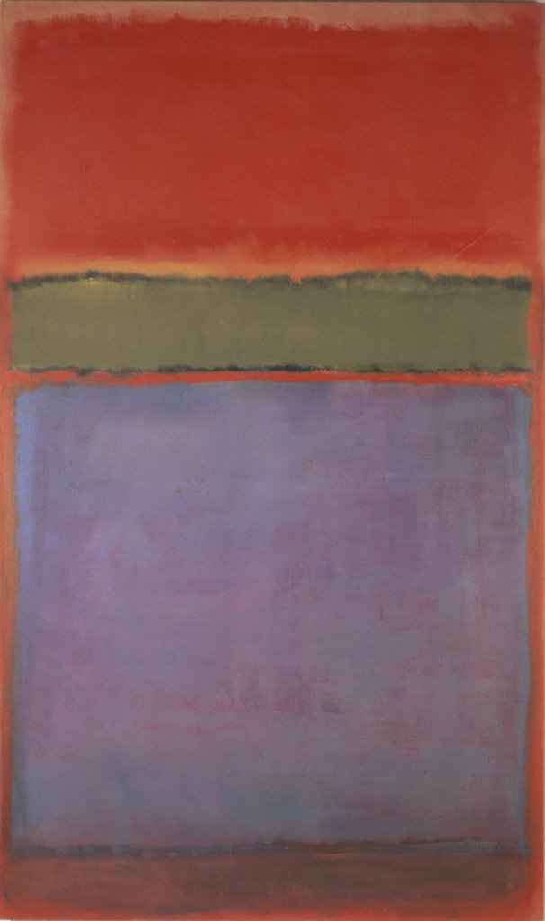 Stock Photo: 1158-2455 No. 6- Violet, Green & Red by Mark Rothko, 1951, 1903-1970