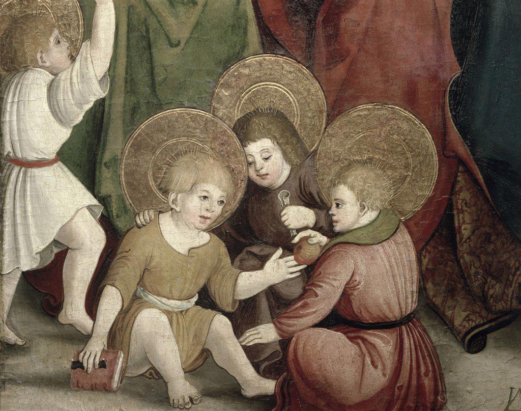 Stock Photo: 1158-2507 Childhood Of Saint Joachim (Detail)  Swabian School(- )