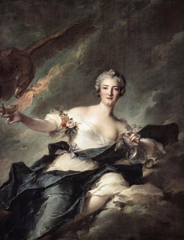 Stock Photo: 1158-2516 The Duchess Of Chaulnes, As Hebe 1744 Jean-Marc Nattier (1685-1766 French) Musee du Louvre, Paris, France