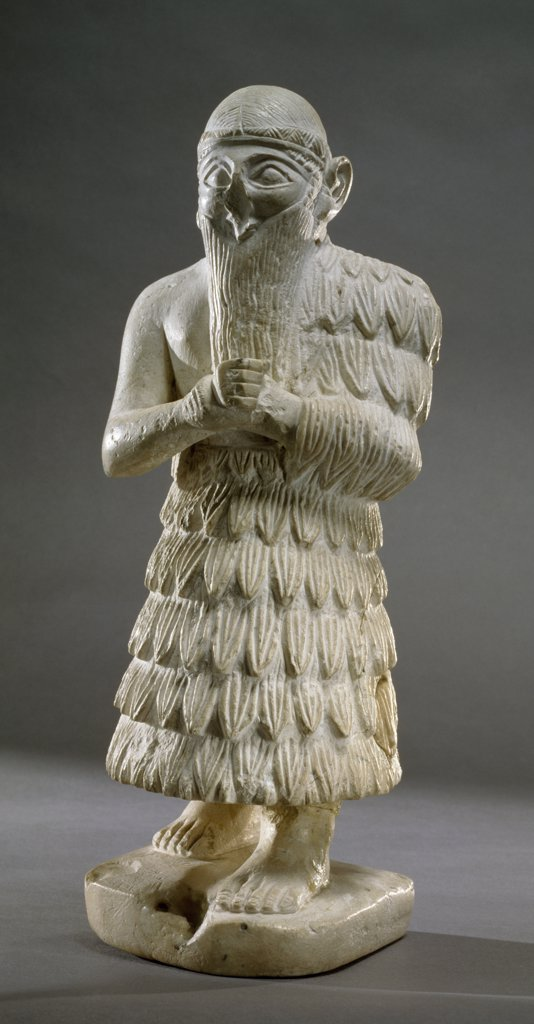 Stock Photo: 1158-2522 Statuette, King of Mari, 3000 BC, Near Eastern Art