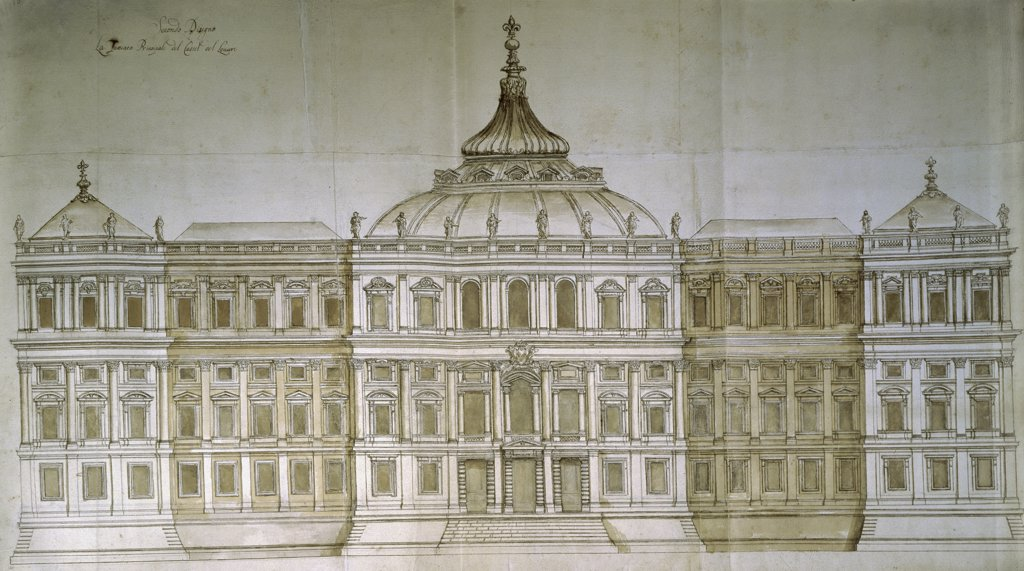 Stock Photo: 1158-2569 Study of the Louvre by Carlo Rainaldi, 1611-1691, France, Paris, Musee du Louvre
