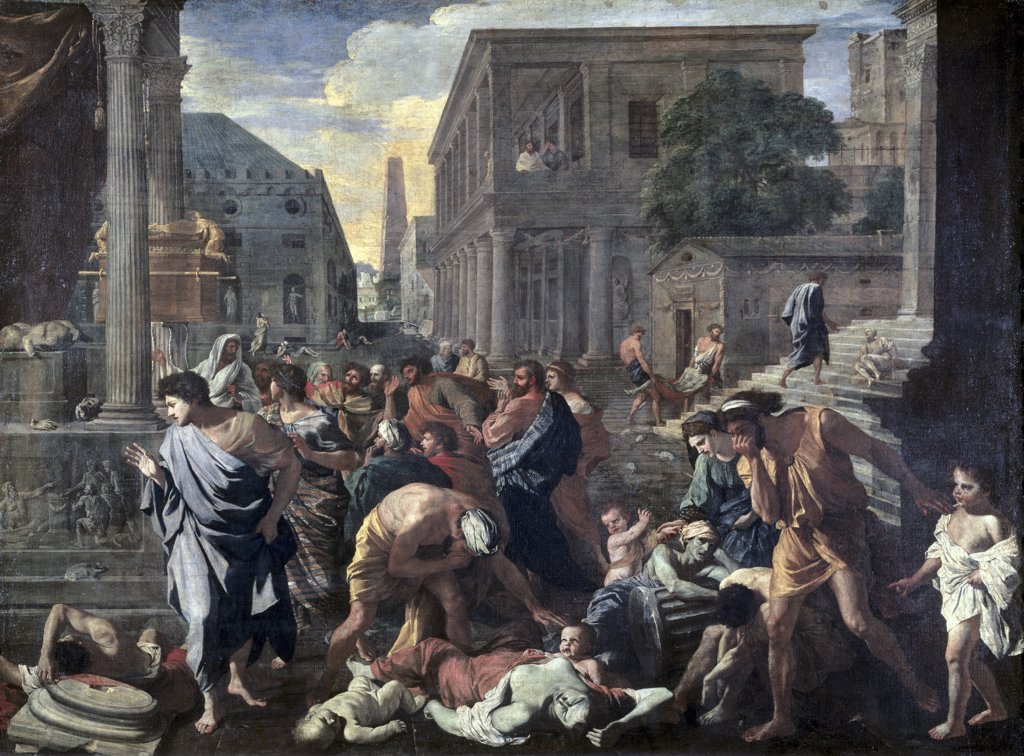 Stock Photo: 1158-2570 Plague On Ashdod In 1030 B.C. 17th Century Nicolas Poussin (1594-1665 French) Oil On Canvas Musee du Louvre, Paris, France