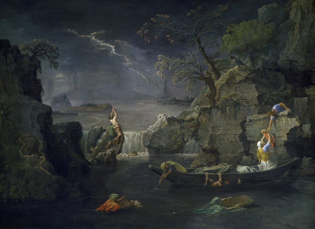 Stock Photo: 1158-2579 Winter or the Deluge by Nicolas Poussin,  c. 1660,  (1594-1665),  Paris,  Musee du Louvre
