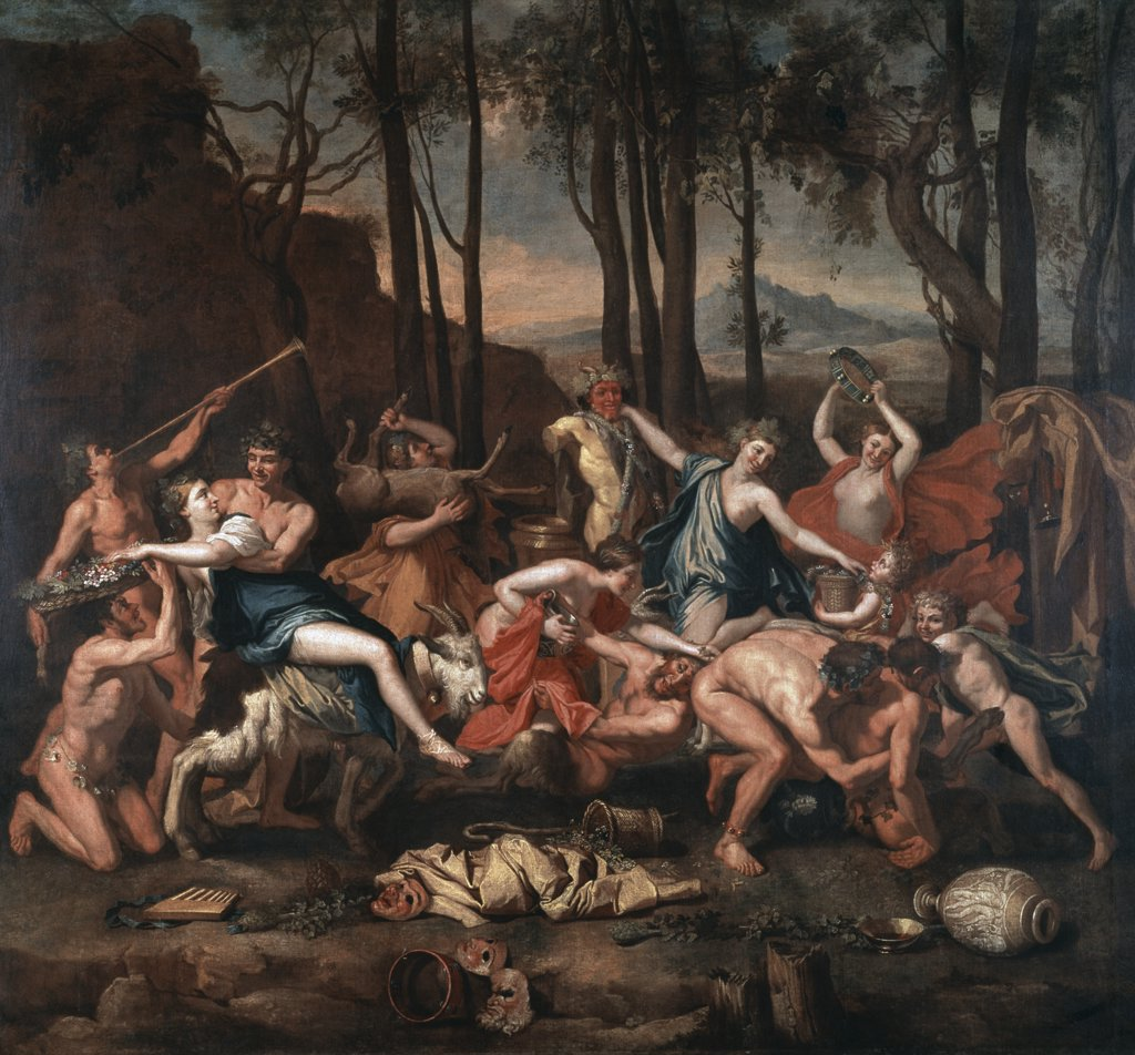 Stock Photo: 1158-2580 The Triumph Of Pan 17th Century Nicolas Poussin (1594-1665 French) Musee du Louvre, Paris, France