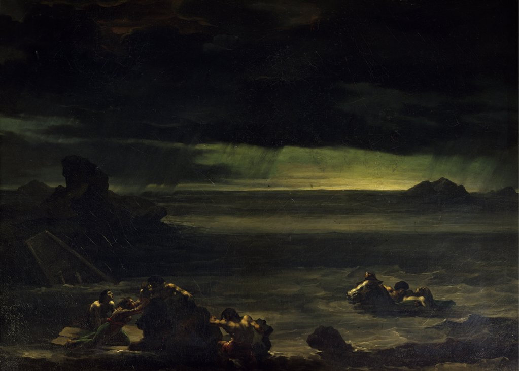 Stock Photo: 1158-2581 Scene of The Flood by Theodore Gericault,  1812,  (1791-1824),  Paris,  Musee du Louvre