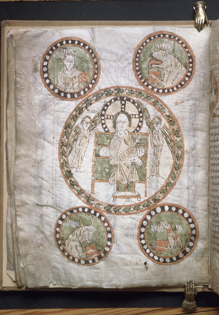 Stock Photo: 1158-2588 Christ in Glory Surrounded by Symbols of the Four Evangelists