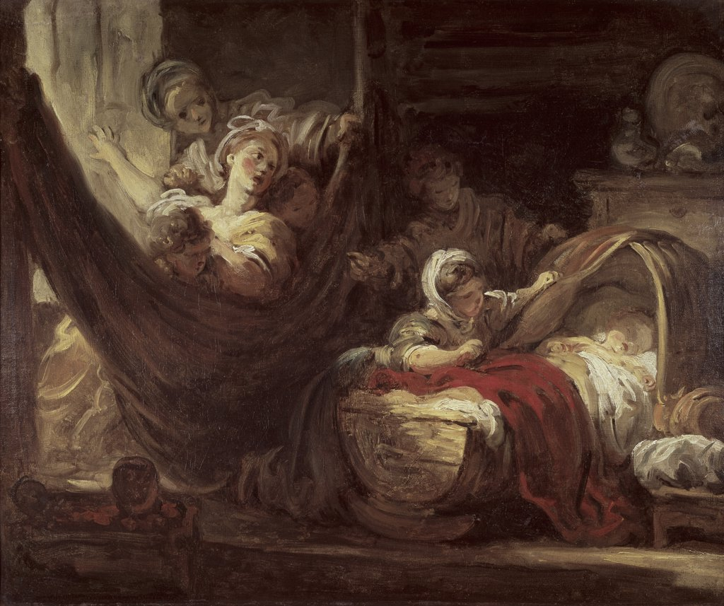 The Cradle C.1780 Jean Honoré Fragonard (1732-1806 French) : Stock Photo