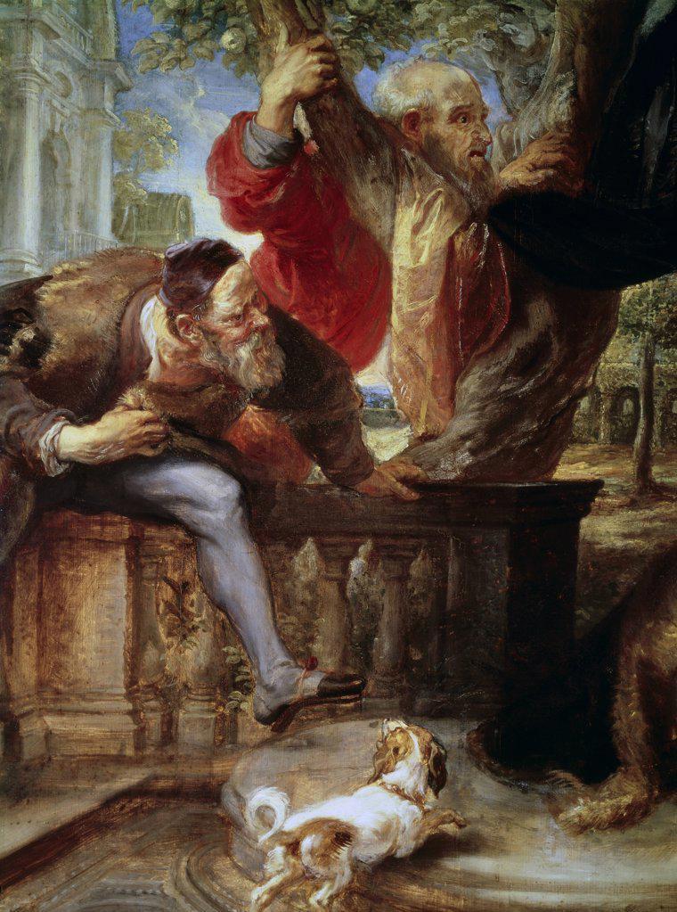 Susanna And The Two Elders 17th Century Peter Paul Rubens (1577-1640 Flemish) Alte Pinakothek, Munich, Germany : Stock Photo