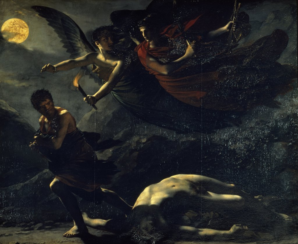Stock Photo: 1158-2600 France, Paris, Musee Du Louvre, Justice and Divine Vengence Pursuing Crime by Pierre-Paul Prud'hon, oil painting, 1808, (1758-1823)