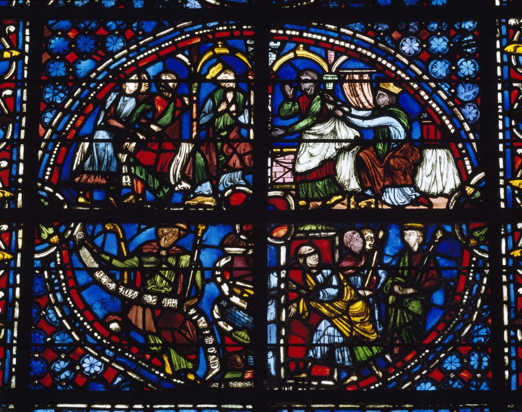 Stock Photo: 1158-2606 France, Upper Normandy, Rouen, Rouen Cathedral Clement of Chartres, stained glass