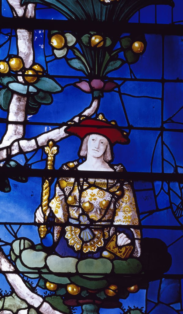 Stock Photo: 1158-2614 France, Picardie, Beauvais, Church of St. Etienne, The Jesse Tree, stained glass