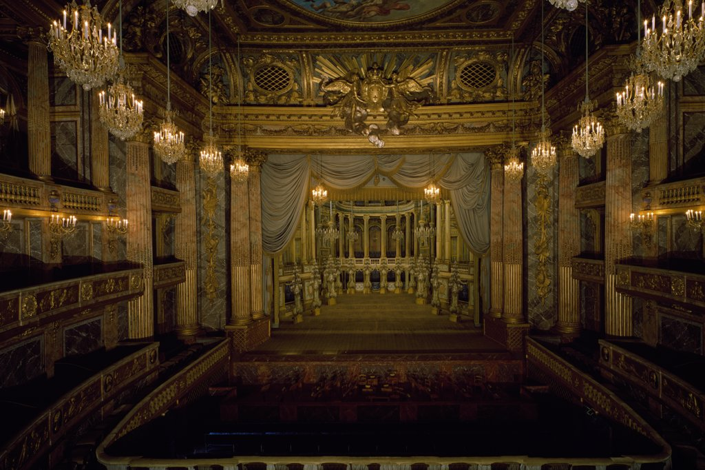 Stock Photo: 1158-2621 France, Ile-de-France, Versailles, Chateau de Versailles, Opera Room