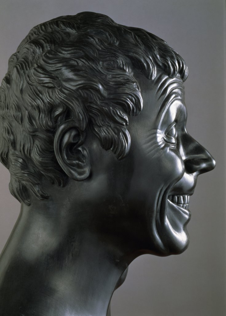 Slovakia, Bratislava, Galerie Nationale Slovaque, Heads of Characters: Furious and Vindictive by Franz Xaver Messerschmidt, (1736-1783) : Stock Photo