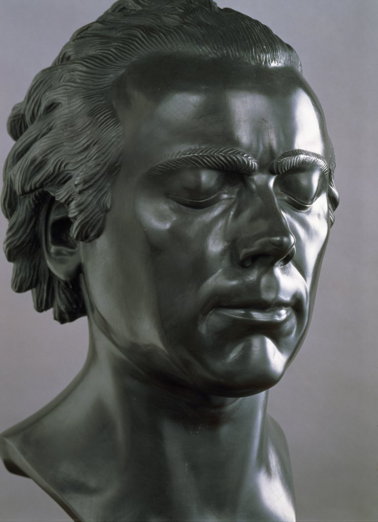 Slovakia, Bratislava, Galerie Nationale Slovaque, Heads of Characters: Peaceful and Tranquil by Franz Xaver Messerschmidt, (1736-1783) : Stock Photo